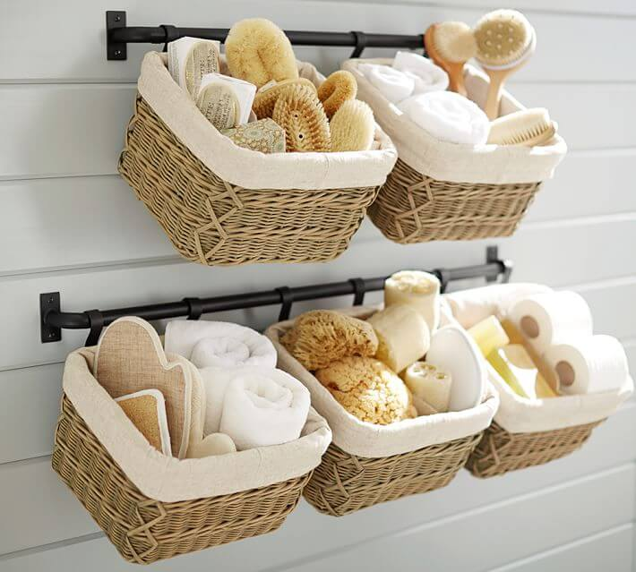 bathroom storage baskets