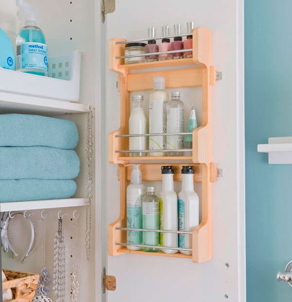 small bathroom storage ideas for shelves