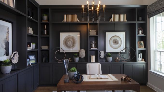 dark modern home office