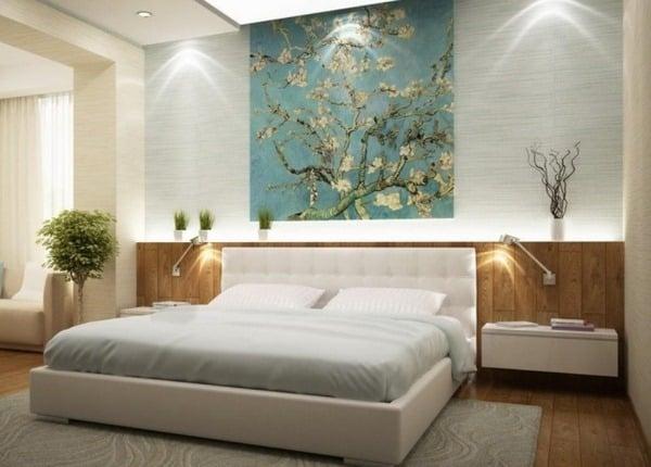 modern bedroom with sleek design