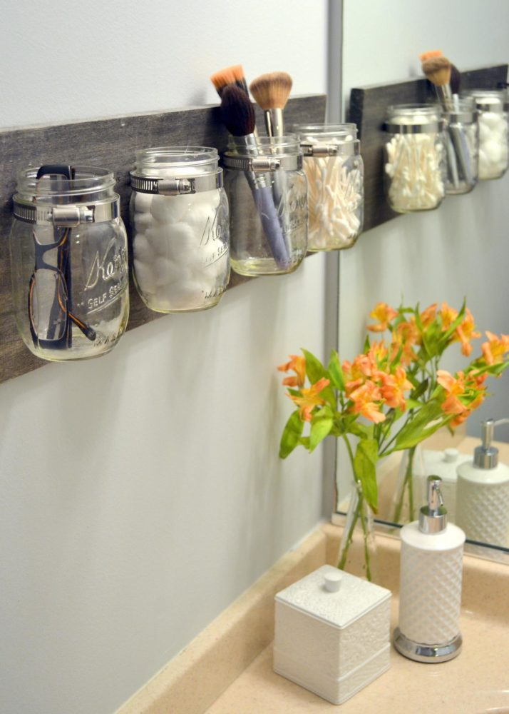 bathroom storage jars