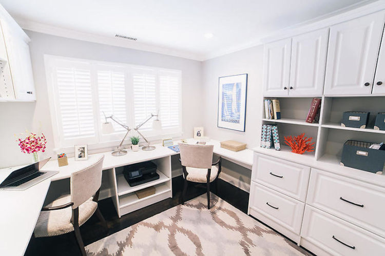 custom home office for two