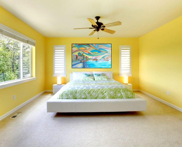 fancy bedroom with feng shui