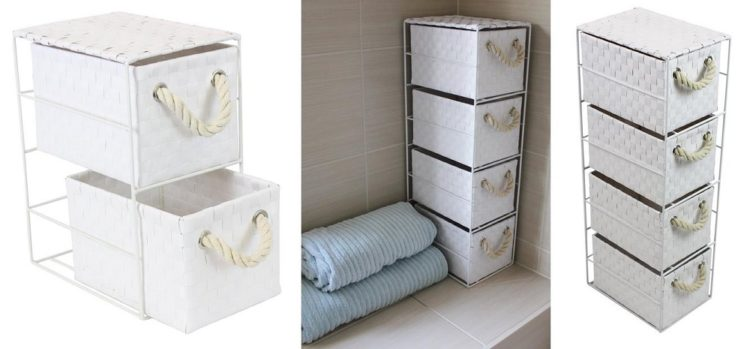 white drawer bathroom storage