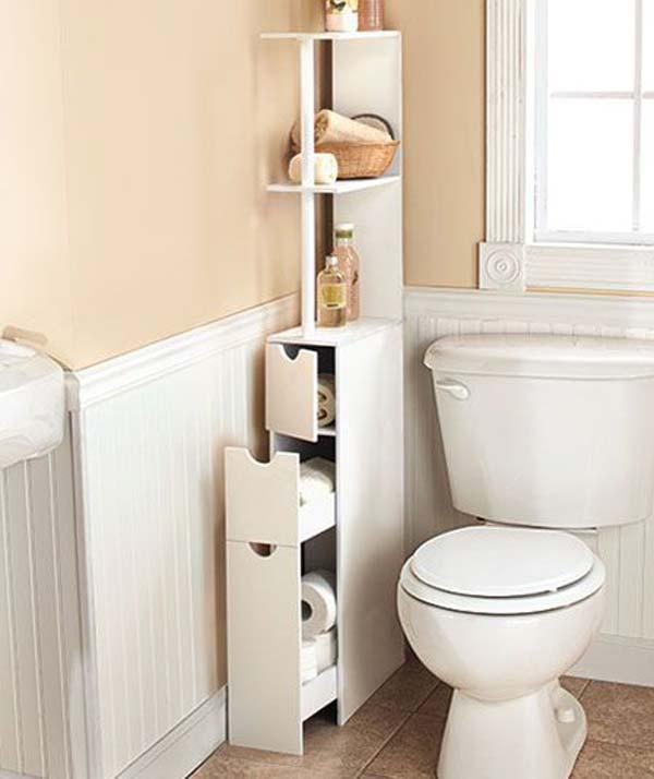 storage hack for bathroom