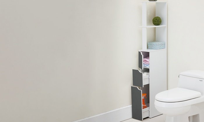 corner storage for bathroom