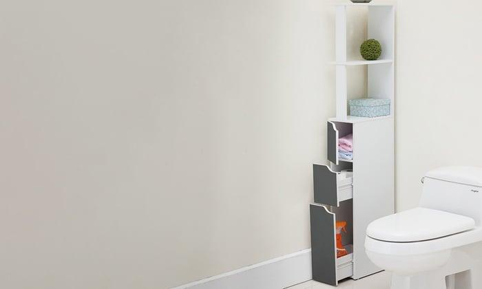corner storage for bathroom