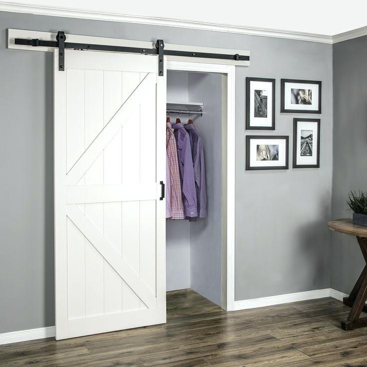 bedroom closet with sliding barn door