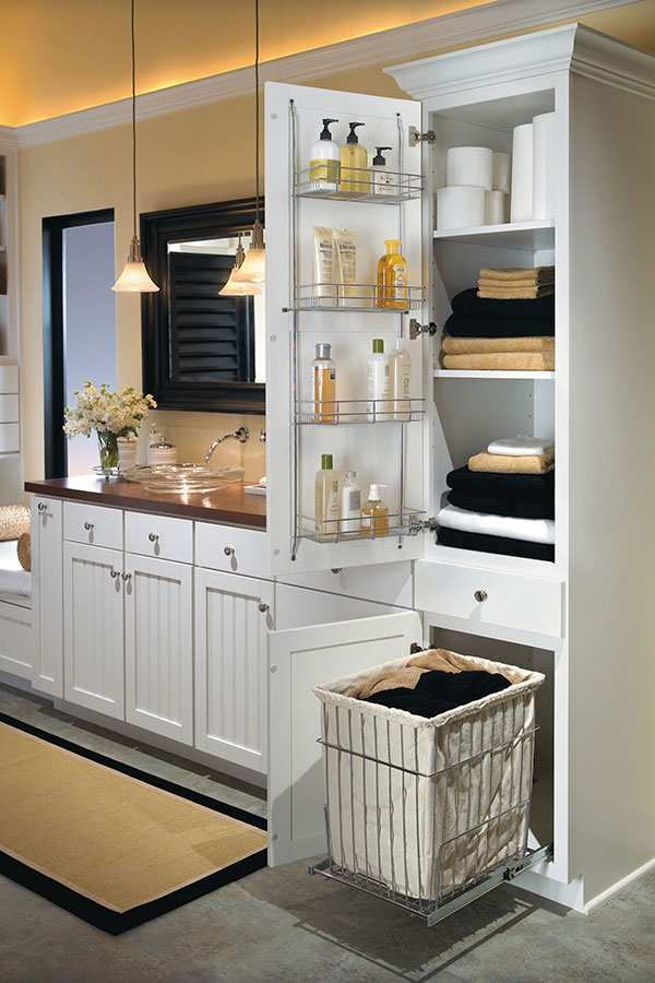 cool storage idea for small bathroom