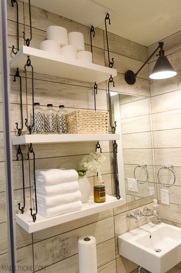 hanging storage for bathroom