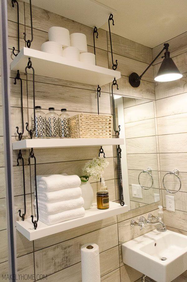 hanging storage for bathroom