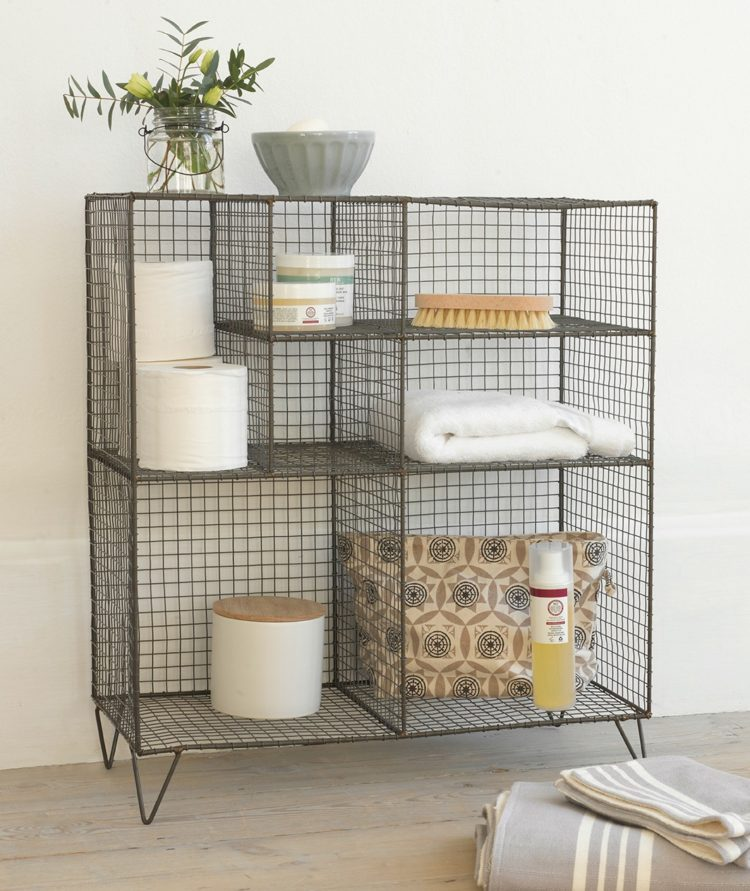 wire storage unit for bathroom