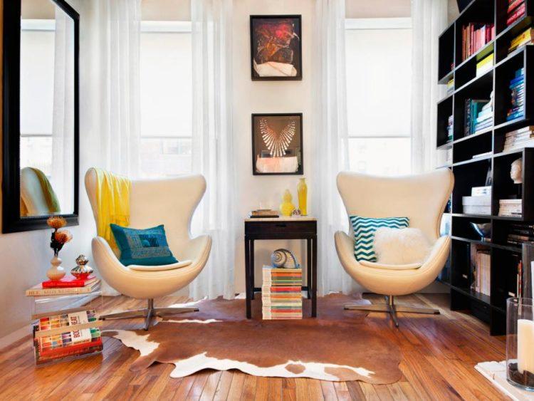white living room design