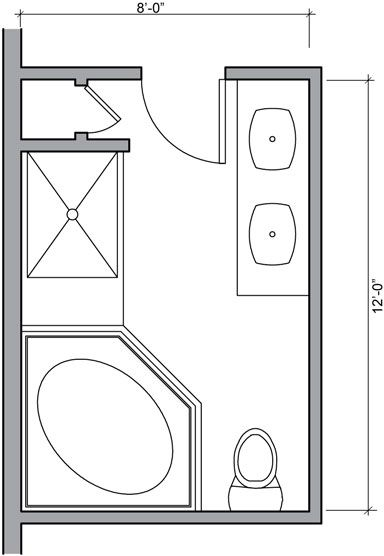 bathroom floor plan with double sink