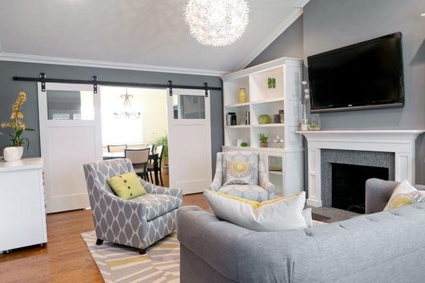 gray living room design