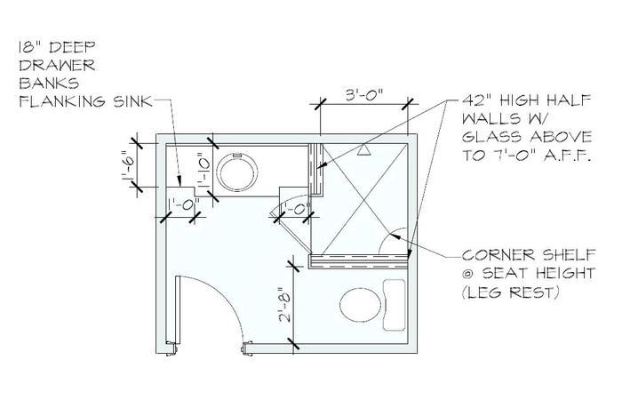 detailed bathroom floor plan