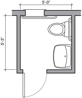 half bathroom floor plan