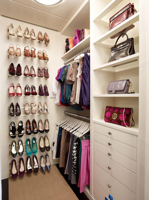 beautiful small walk-in closet