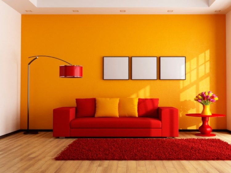 bright color living room
