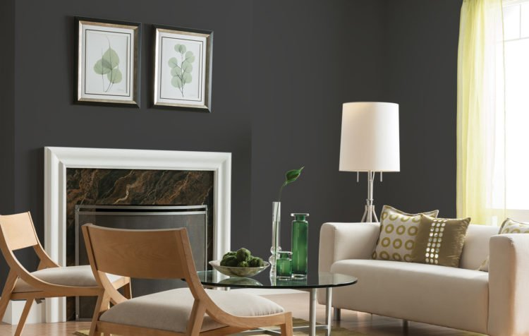 dark living room color scheme