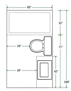 square bath tub floor plan