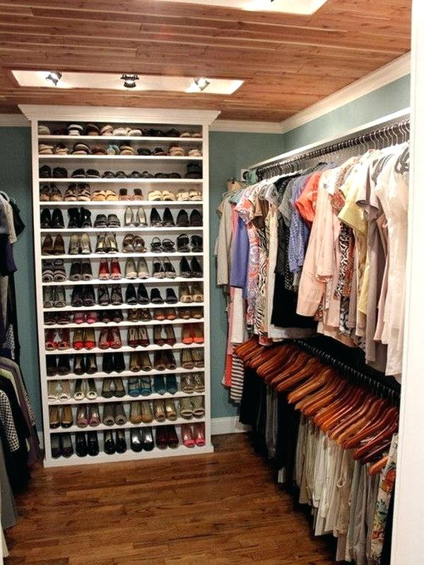 small closet with shoe storage