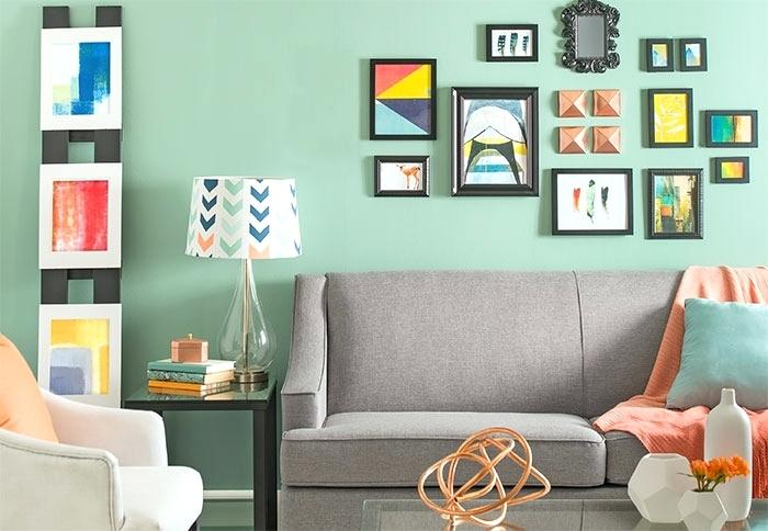 mint green living room design