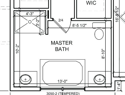 large master bathroom layout