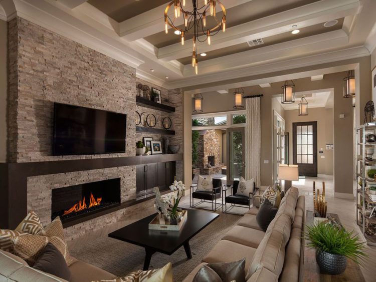 20 Beautiful Living Room Designs with High Ceilings