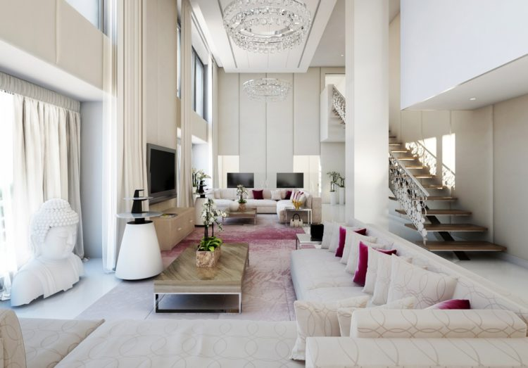 Living Room Designs With High Ceilings
