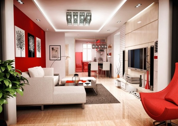 . 20 Beautiful Red Living Room Design Ideas to Consider