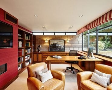 20 Gorgeous Red Office Designs