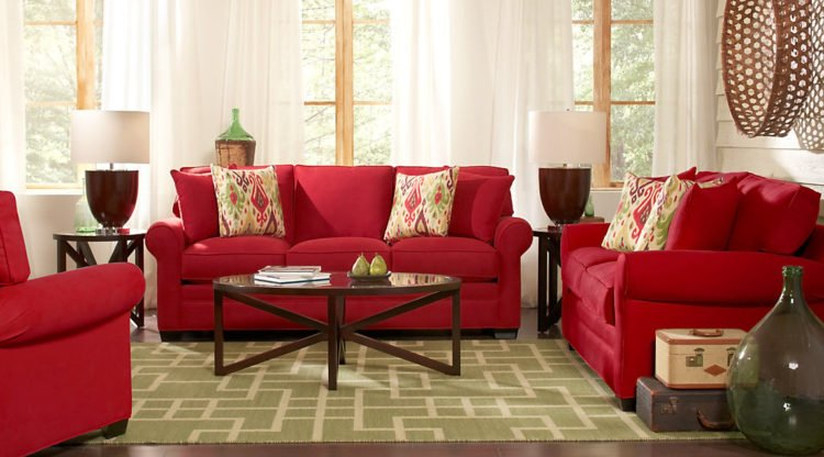 Red Living Room The vibrant color of red will brighten and cheer up any room in your home,  but the one room that can often be left struggling for style and character,  ...