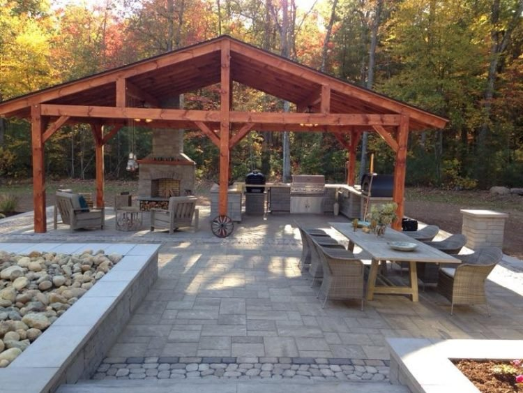 20 Gorgeous Backyard Pavilion Ideas