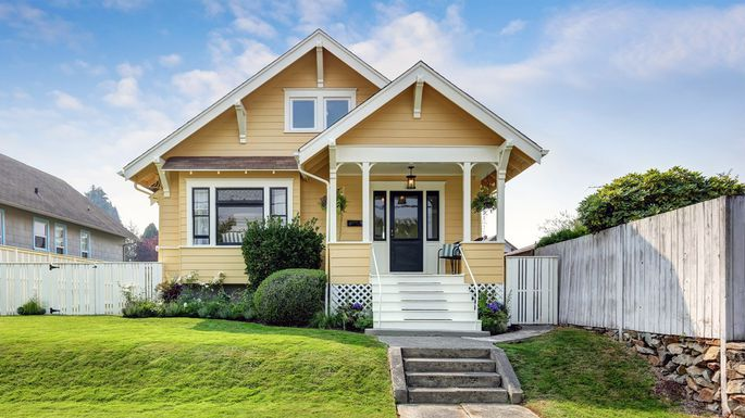 Craftsman Home Yellow