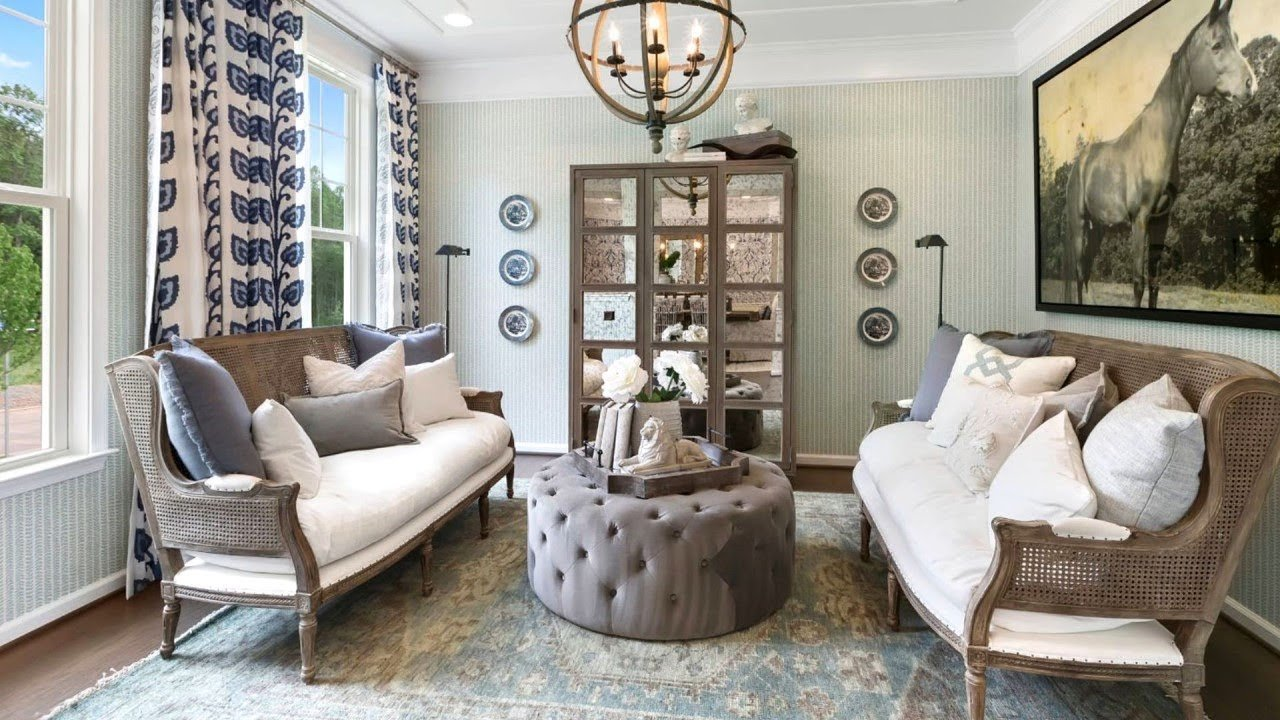 interesting french style white living room | 20 Beautiful Examples of French Country Living Rooms