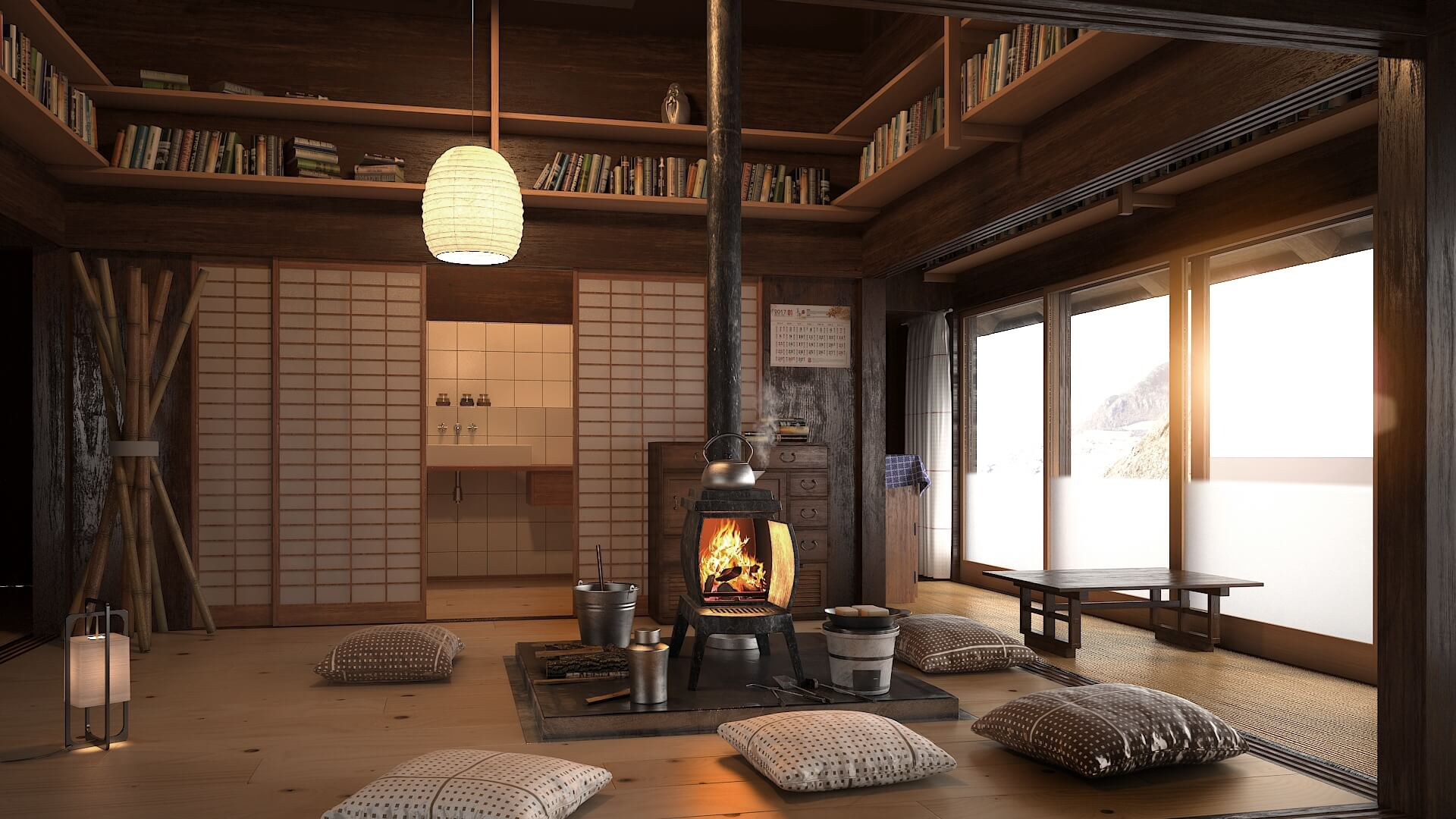 Japanese Living Room, Japanese Living Room