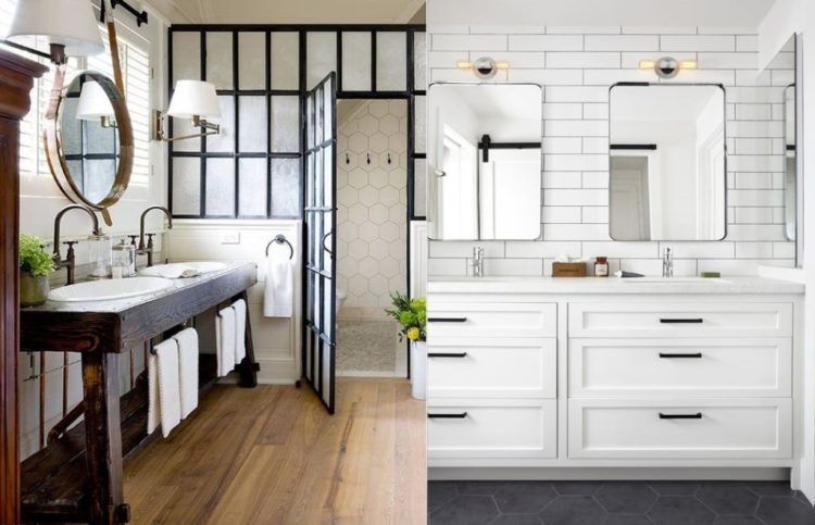 Gorgeous Examples Of A Farmhouse Bathroom