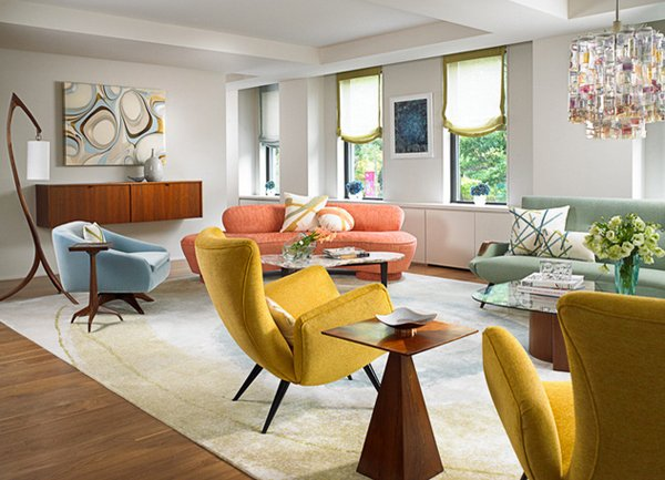 20 Beautiful Examples of a Mid Century Modern Living Room