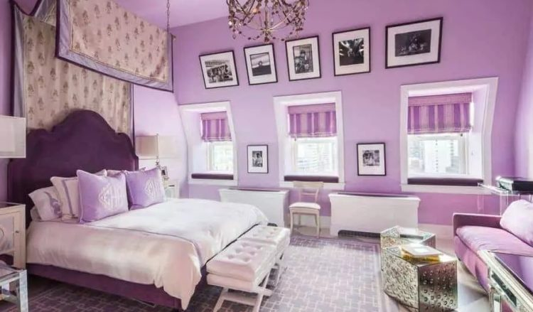 Purple Master Bedroom