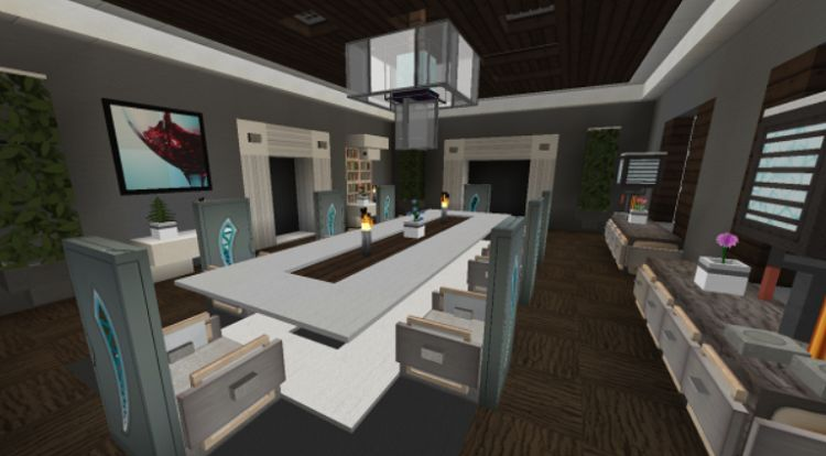 Five Awesome Minecraft Dining Rooms For Inspiration Modern villa minecraft project minecraft bedroom minecraft house designs luxurious bedrooms. five awesome minecraft dining rooms for